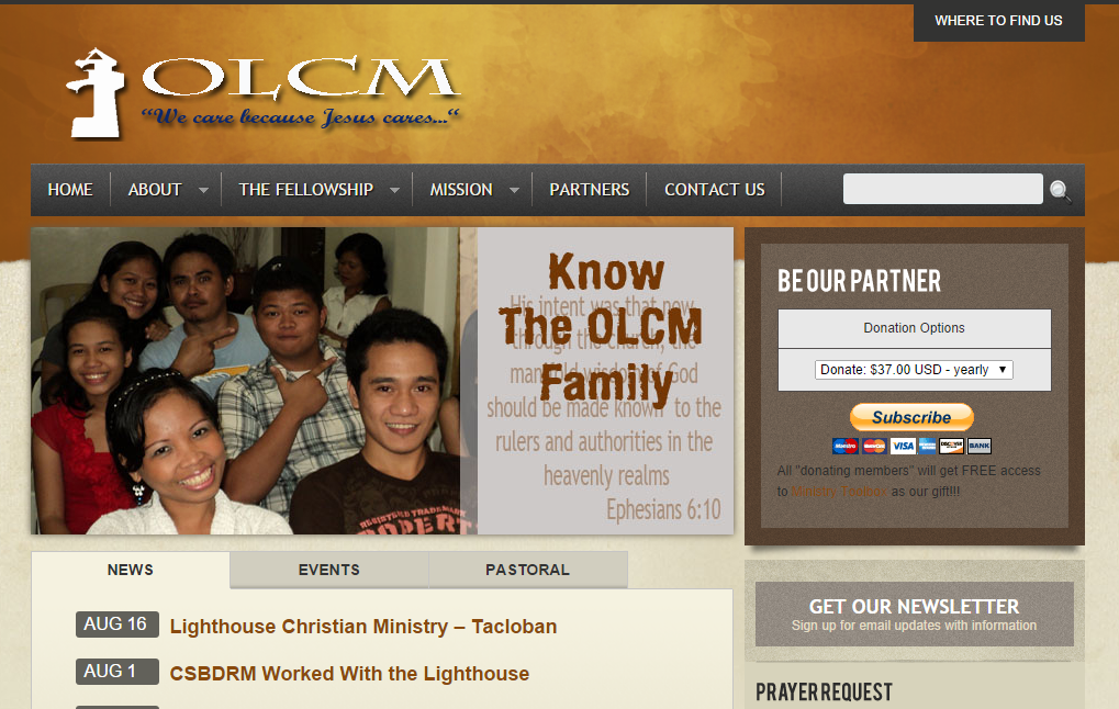 Ormoc Lighthouse Website
